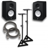 "Yamaha HS7 Powered Studio 7"" Monitor Pair with Stands and Cables"